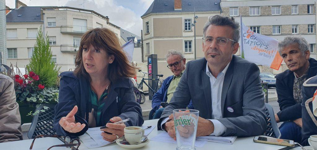 Emmanuel Denis et Cathy Savourey en conférence de presse